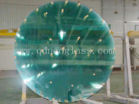 Round Tempered Table Glass For Restaurant and Dinner Room-AS/NZS 2208: 1996,CE,ISO