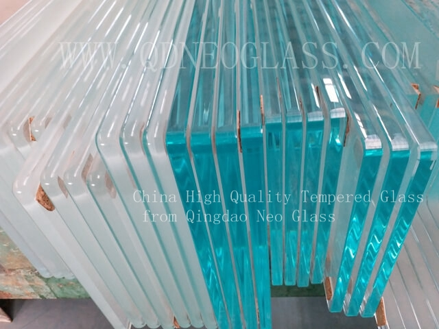 Low Iron Toughened Glass With Polished Edges