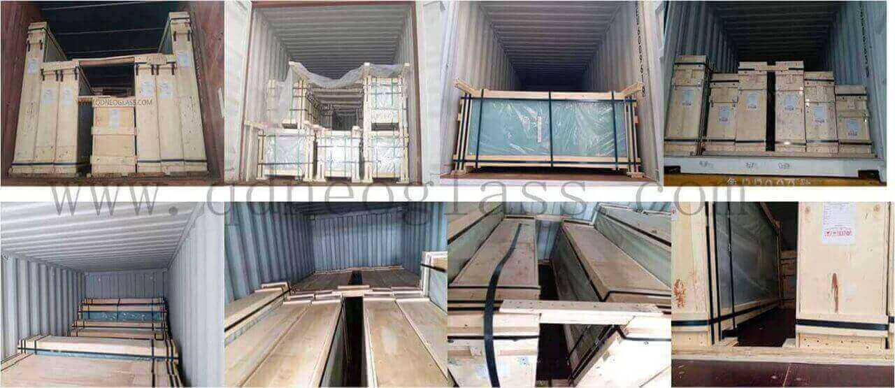 Tint Laminated Glass Container Fasten