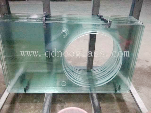 Tempered Countertop Glass with Big Round Hole